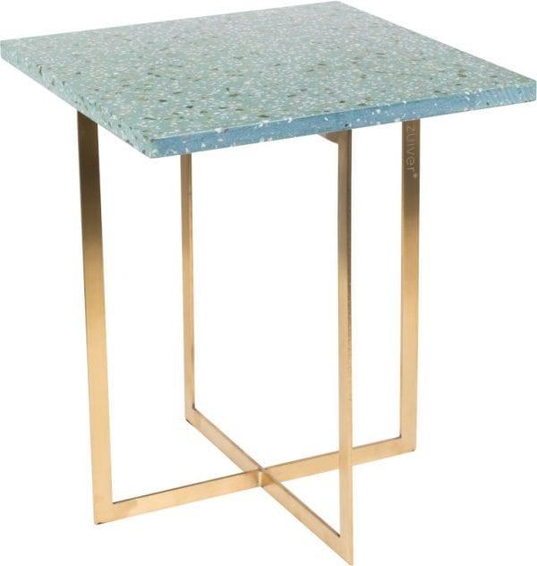 Bijzettafel Luigi Square Green modern design uit de Zuiver meubel collectie - 2300187
