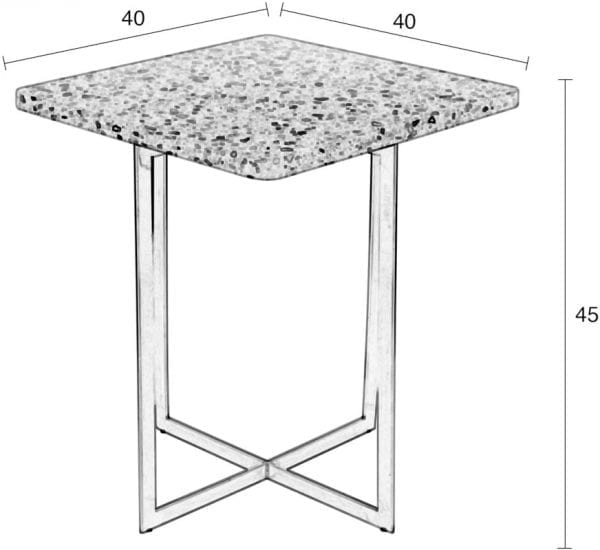 Bijzettafel Luigi Square Pink modern design uit de Zuiver meubel collectie - 2300184