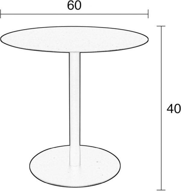 Bijzettafel Snow Black Round M modern design uit de Zuiver meubel collectie - 2300150