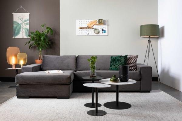 Bijzettafel Snow Black Round S modern design uit de Zuiver meubel collectie - 2300152