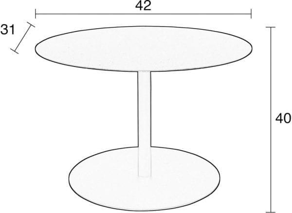 Bijzettafel Snow Marble Oval modern design uit de Zuiver meubel collectie - 2300155