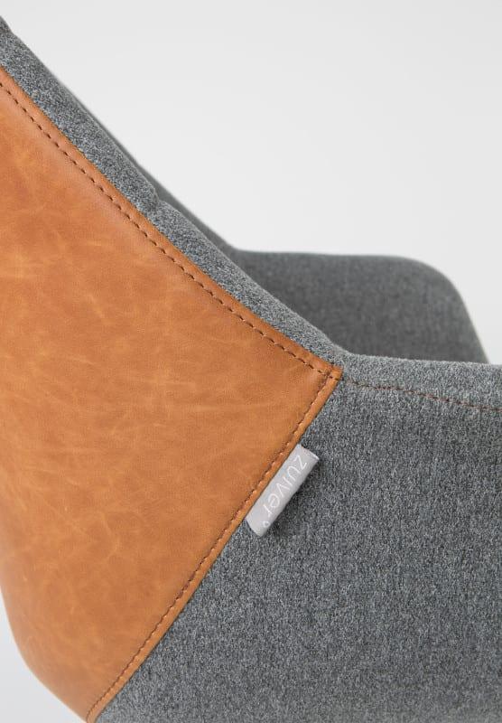 Bureaustoel Doulton Vintage Brown modern design uit de Zuiver meubel collectie - 1300003