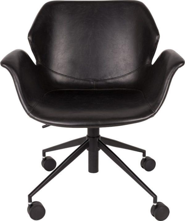 Bureaustoel Nikki All Black modern design uit de Zuiver meubel collectie - 1300004