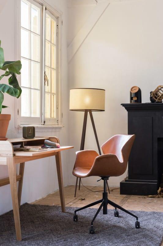 Bureaustoel Nikki All Brown modern design uit de Zuiver meubel collectie - 1300005