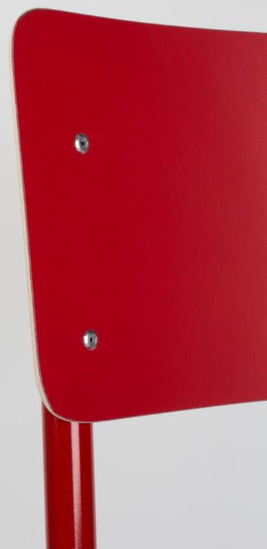 Eetkamerstoel Back To School Hpl Red modern design uit de Zuiver meubel collectie - 1008207
