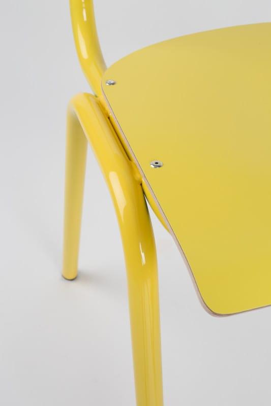 Eetkamerstoel Back To School Hpl Yellow modern design uit de Zuiver meubel collectie - 1008203
