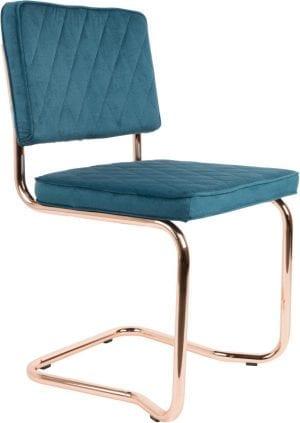 Eetkamerstoel Diamond Kink Emerald Green modern design uit de Zuiver meubel collectie - 1100276