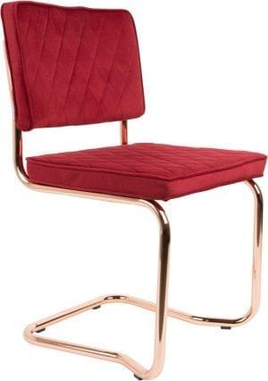 Eetkamerstoel Diamond Kink Royal Red modern design uit de Zuiver meubel collectie - 1100274