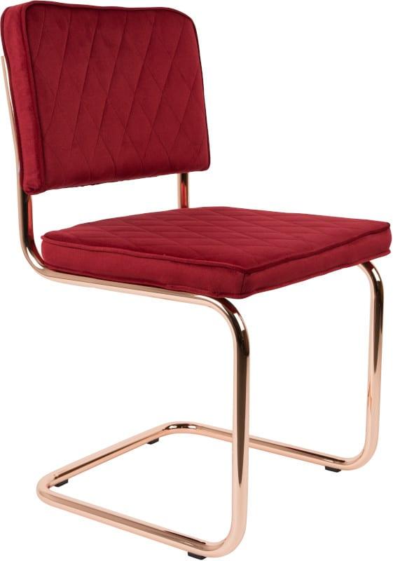 Eetkamerstoel Diamond Royal Red modern design uit de Zuiver meubel collectie - 1100270