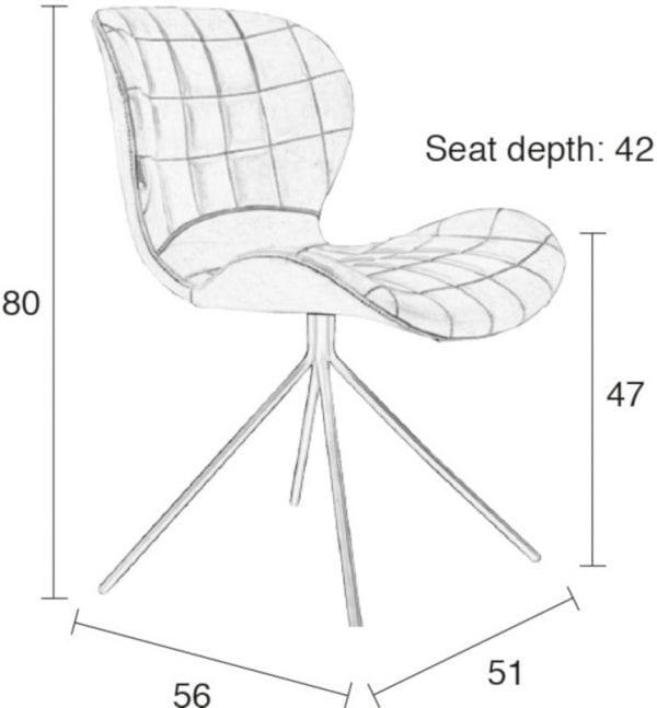 Eetkamerstoel Omg Ll Black modern design uit de Zuiver meubel collectie - 1100257