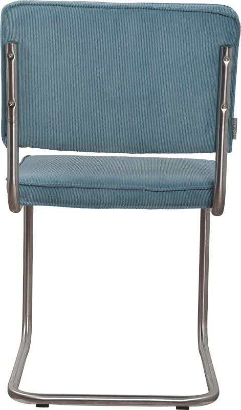 Eetkamerstoel Ridge Brushed Rib Blue 12A modern design uit de Zuiver meubel collectie - 1100084