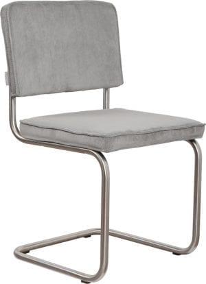 Eetkamerstoel Ridge Brushed Rib Cool Grey 32A modern design uit de Zuiver meubel collectie - 1100089