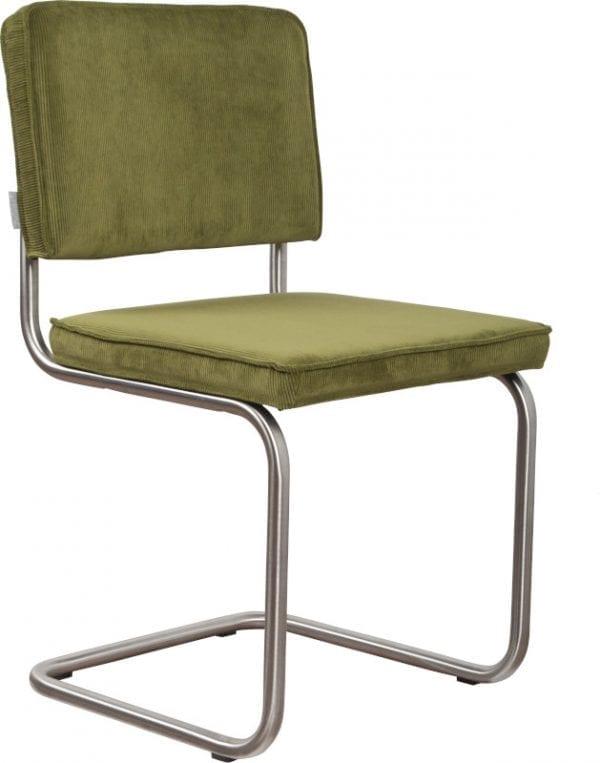 Eetkamerstoel Ridge Brushed Rib Green 25A modern design uit de Zuiver meubel collectie - 1100086