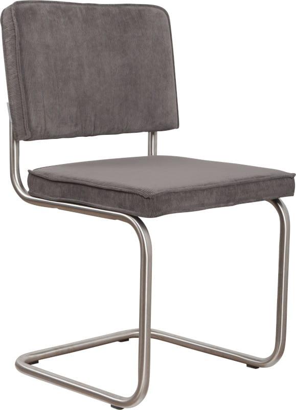 Eetkamerstoel Ridge Brushed Rib Grey 6A modern design uit de Zuiver meubel collectie - 1100082