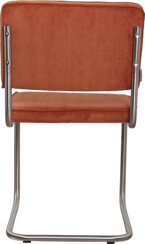 Eetkamerstoel Ridge Brushed Rib Orange 19A modern design uit de Zuiver meubel collectie - 1100080