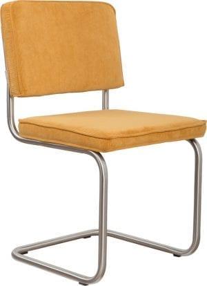 Eetkamerstoel Ridge Brushed Rib Yellow 24A modern design uit de Zuiver meubel collectie - 1100087