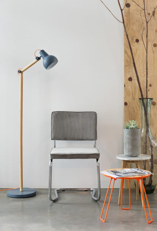 Eetkamerstoel Ridge Kink Rib Blue 12A modern design uit de Zuiver meubel collectie - 1100061