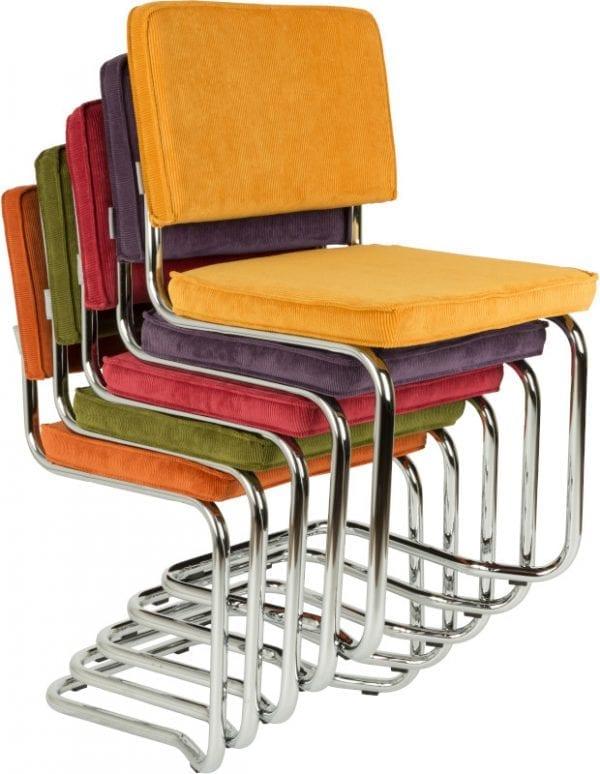 Eetkamerstoel Ridge Kink Rib Orange 19A modern design uit de Zuiver meubel collectie - 1100057