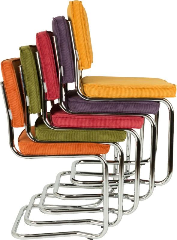 Eetkamerstoel Ridge Kink Rib Red 21A modern design uit de Zuiver meubel collectie - 1100056