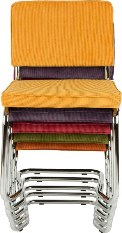 Eetkamerstoel Ridge Kink Rib Yellow 24A modern design uit de Zuiver meubel collectie - 1100064