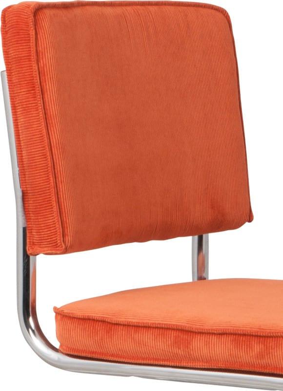 Eetkamerstoel Ridge Rib Orange 19A Zuiver 1006003