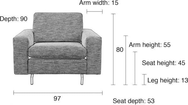 Bank Jean 1-Seater Antracite modern design uit de Zuiver meubel collectie - 3200129