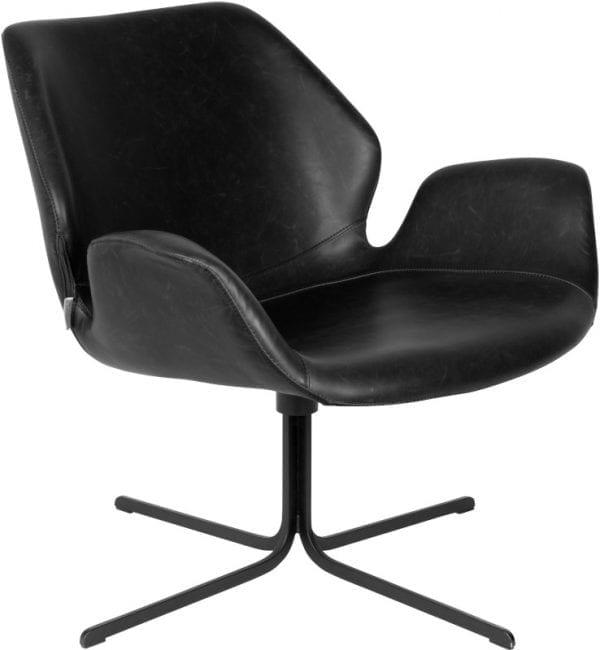 Fauteuil Nikki All Black modern design uit de Zuiver meubel collectie - 3100065