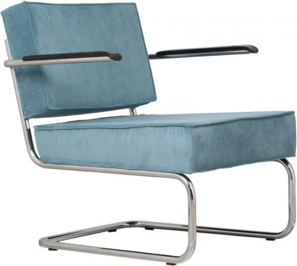 Fauteuil Ridge Rib Arm Blue 12A modern design uit de Zuiver meubel collectie - 3100017