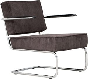 Fauteuil Ridge Rib Arm Grey 6A modern design uit de Zuiver meubel collectie - 3100015