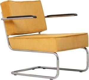 Fauteuil Ridge Rib Arm Yellow 24A modern design uit de Zuiver meubel collectie - 3100019