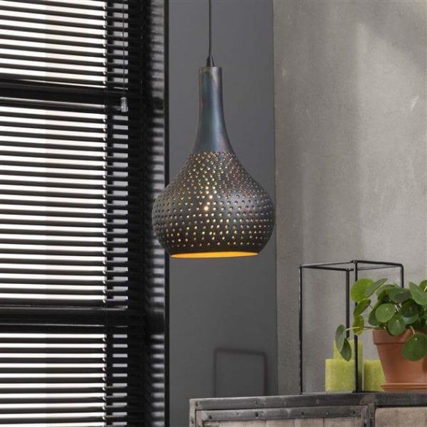 Hanglamp 1x industry concrete kegel/Zwart bruin. 8142/56 uit de hanglampen collectie van Zijlstrakleinmeubelen & verlichting bij Löwik Meubelen