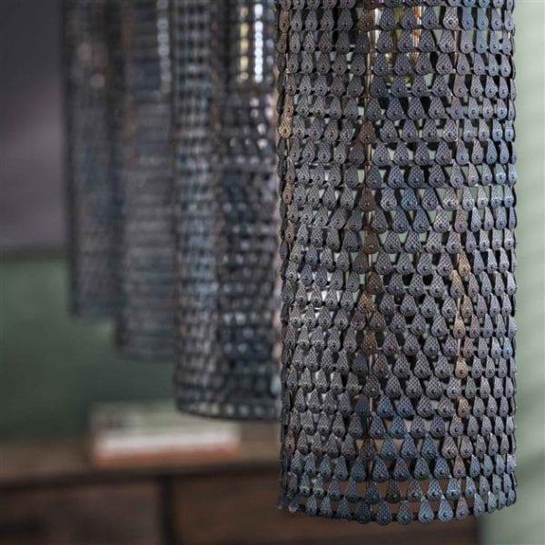 Hanglamp 4L armor tube / Zwart bruin. 8110/56 uit de hanglampen collectie van Zijlstrakleinmeubelen & verlichting bij Löwik Meubelen