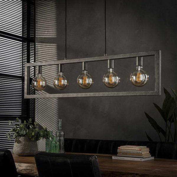Hanglamp 5L steps / Oud zilver. 7784/29 uit de hanglampen collectie van Zijlstrakleinmeubelen & verlichting bij Löwik Meubelen