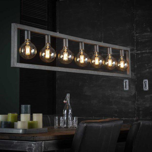 Hanglamp 7L steps / Oud zilver. 7785/29 uit de hanglampen collectie van Bullcraft kleinmeubelen & verlichting bij Löwik Meubelen