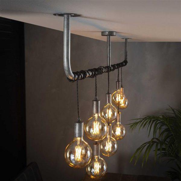 Hanglamp 8L wikkel / Oud zilver. 7799/29 uit de hanglampen collectie van Zijlstrakleinmeubelen & verlichting bij Löwik Meubelen