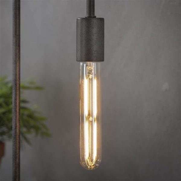 Lichtbron LED filament buis 18 5 cm - E27 4W 2100K 280lm dimbaar / Amberkleurig glas. 8473/39A uit de lichtbronnen collectie van Zijlstrakleinmeubelen & verlichting bij Löwik Meubelen