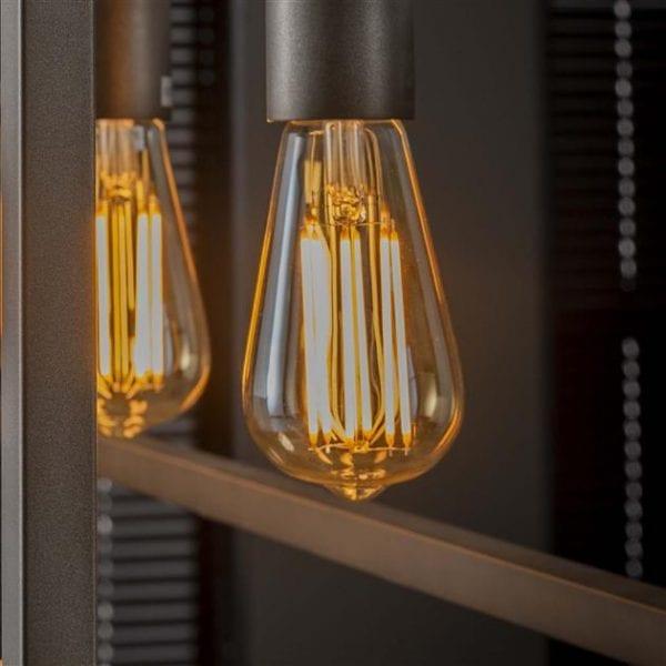 Lichtbron LED filament druppel - E27 6W 2100K 450lm dimbaar / Amberkleurig glas. 8450/39A uit de lichtbronnen collectie van Zijlstrakleinmeubelen & verlichting bij Löwik Meubelen