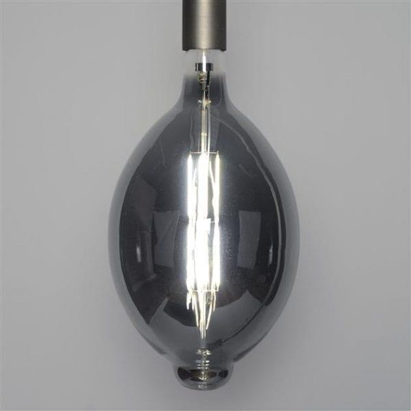 Lichtbron LED filament ovaal - E27 8W dimbaar / Smoke grey glas. 8481/39G uit de lichtbronnen collectie van Zijlstrakleinmeubelen & verlichting bij Löwik Meubelen