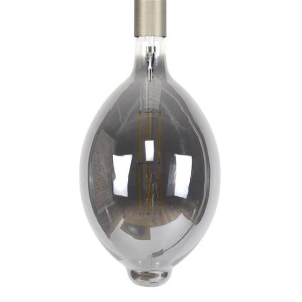 Lichtbron LED filament ovaal - E27 8W dimbaar / Smoke grey glas. 8481/39G uit de lichtbronnen collectie van Bullcraft kleinmeubelen & verlichting bij Löwik Meubelen
