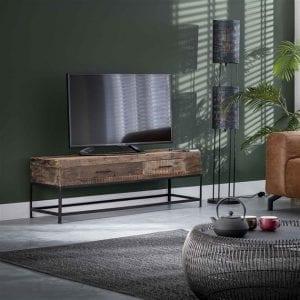 TV-meubel 2L lodge / Massief gerecycled hout. 2183/18 uit de opbergmeubelen collectie van Bullcraft kleinmeubelen & verlichting bij Löwik Meubelen