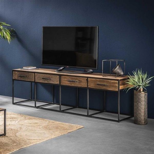 TV-meubel Float 4L / Robuust hardhout. 2265/20 uit de opbergmeubelen collectie van Bullcraft kleinmeubelen & verlichting bij Löwik Meubelen