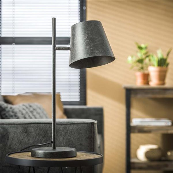 Tafellamp 1L verstelbare metalen kap / Charcoal. 7944/76 uit de tafellampen collectie van Zijlstrakleinmeubelen & verlichting bij Löwik Meubelen