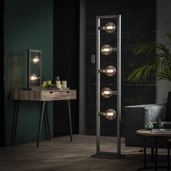 Tafellamp 2L steps / Oud zilver. 7780/29 uit de tafellampen collectie van Zijlstrakleinmeubelen & verlichting bij Löwik Meubelen