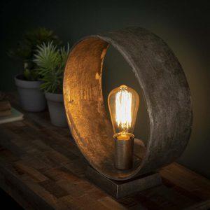 Tafellamp Loop / Antiek Nikkel. 7801/31A uit de tafellampen collectie van Bullcraft kleinmeubelen & verlichting bij Löwik Meubelen