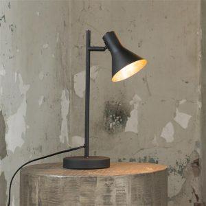 Tafellamp cup in matt black met gold inside. / Zwart. 8186/44 uit de tafellampen collectie van Zijlstrakleinmeubelen & verlichting bij Löwik Meubelen