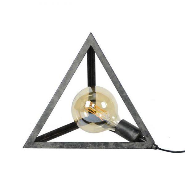 Tafellamp pyramide / Charcoal. 7926/76 uit de tafellampen collectie van Zijlstrakleinmeubelen & verlichting bij Löwik Meubelen