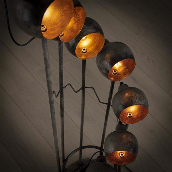 Vloerlamp 8L spiralo vintage/Oud zilver. 8328/29 uit de vloerlampen collectie van Zijlstrakleinmeubelen & verlichting bij Löwik Meubelen