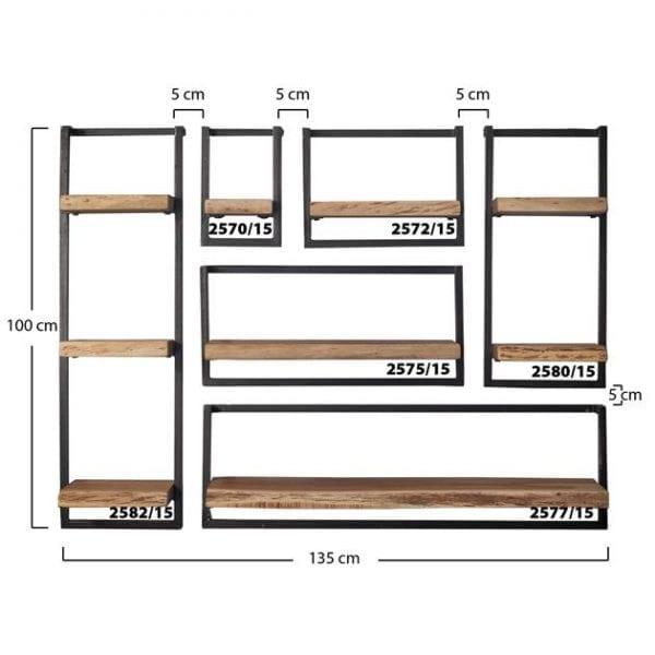 Wandplank edge 30cm 100 cm hoog / Massief acacia naturel. 2582/15 uit de wandplanken collectie van Zijlstrakleinmeubelen & verlichting bij Löwik Meubelen