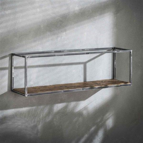Wandschap grained 100cm / Robuust hardhout. 2464/20 uit de wandplanken collectie van Bullcraft kleinmeubelen & verlichting bij Löwik Meubelen