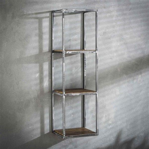 Wandschap grained hoog 100cm / Robuust hardhout. 2469/20 uit de wandplanken collectie van Bullcraft kleinmeubelen & verlichting bij Löwik Meubelen